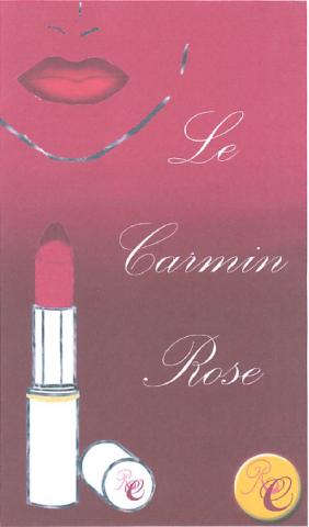 Flyer rouge à lèvres Rose Carmin (étudiantes école esthétique Montpellier)