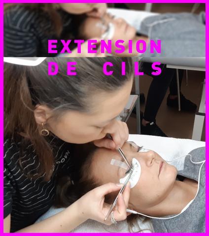 Extension cils - Rose Carmin