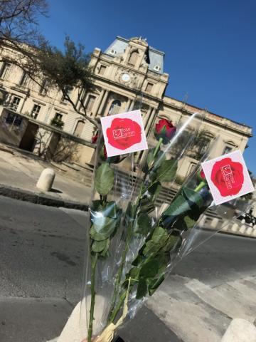 Action Une Rose Montpellier - Rose Carmin
